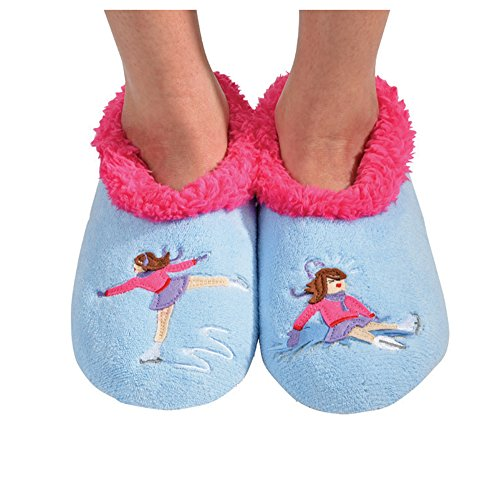 Womens Icesktr Socks Splitz Applique Classic Snoozies Slipper dzw4d