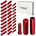 Yuauy (Total 30 PCS) 10 PCs 5mm Red Alloy Road Mountain Bicycle Bike Brake Cable Tips Caps End Crimp + 10 PCs 4mm Shift Derailleur Cable Tips End + 10 PCs Cable End Crimps