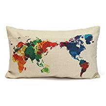 "Cotton Linen Cushion Throw Pillow Covers Pillowslip Case Bicycle (12""x20""/30cmx50cm)"