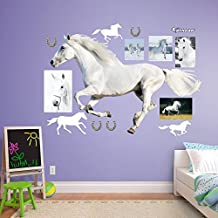 Fathead White Horse Running -  Real Big Wall Decal
