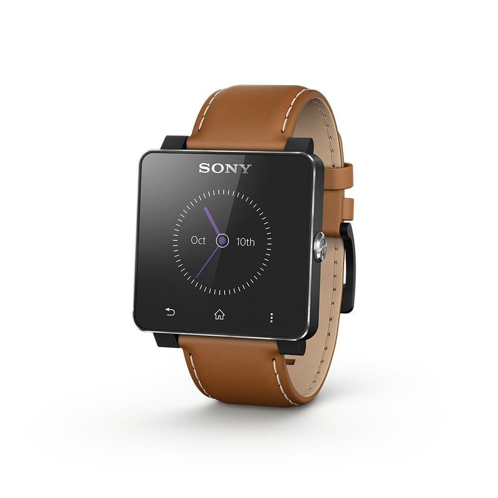 Sony 1300-2689 - SmartWatch 2 con correa de cuero, color marrón, 1 ...