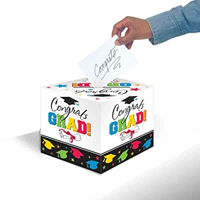 Amscan Graduation Gift Box, Multi: Toys & Games