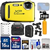 Fujifilm FinePix XP130 Shock & Waterproof Wi-Fi Digital Camera (Yellow) with 32GB Card + Battery + Cases + Dive Light + Buoy Handle + Bike Mount + Kit