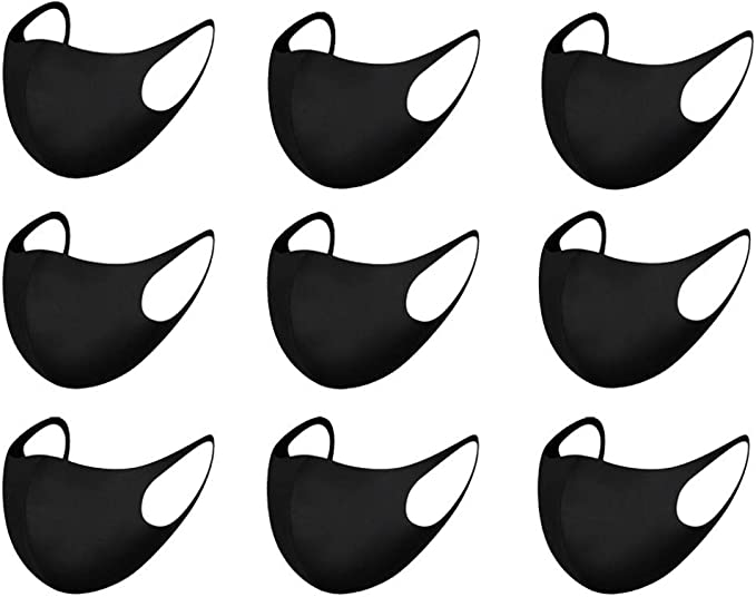 Image ofLazzgirl Algodón Reutilizable y Lavable Antipolvo para Deportes al Aire Libre, con Banda Elástico para Los Oídos, Pack 9 unidades