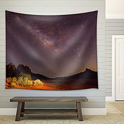 Magnificent Artisanship, Made With Love, Milky Way Over Cathedral Rock Fabric Wall