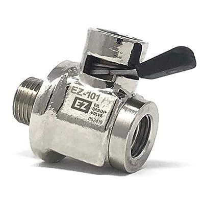 """EZ (EZ-101) Silver 1/2""""-20 UNF Thread Size Oil Drain Valve: Automotive"""