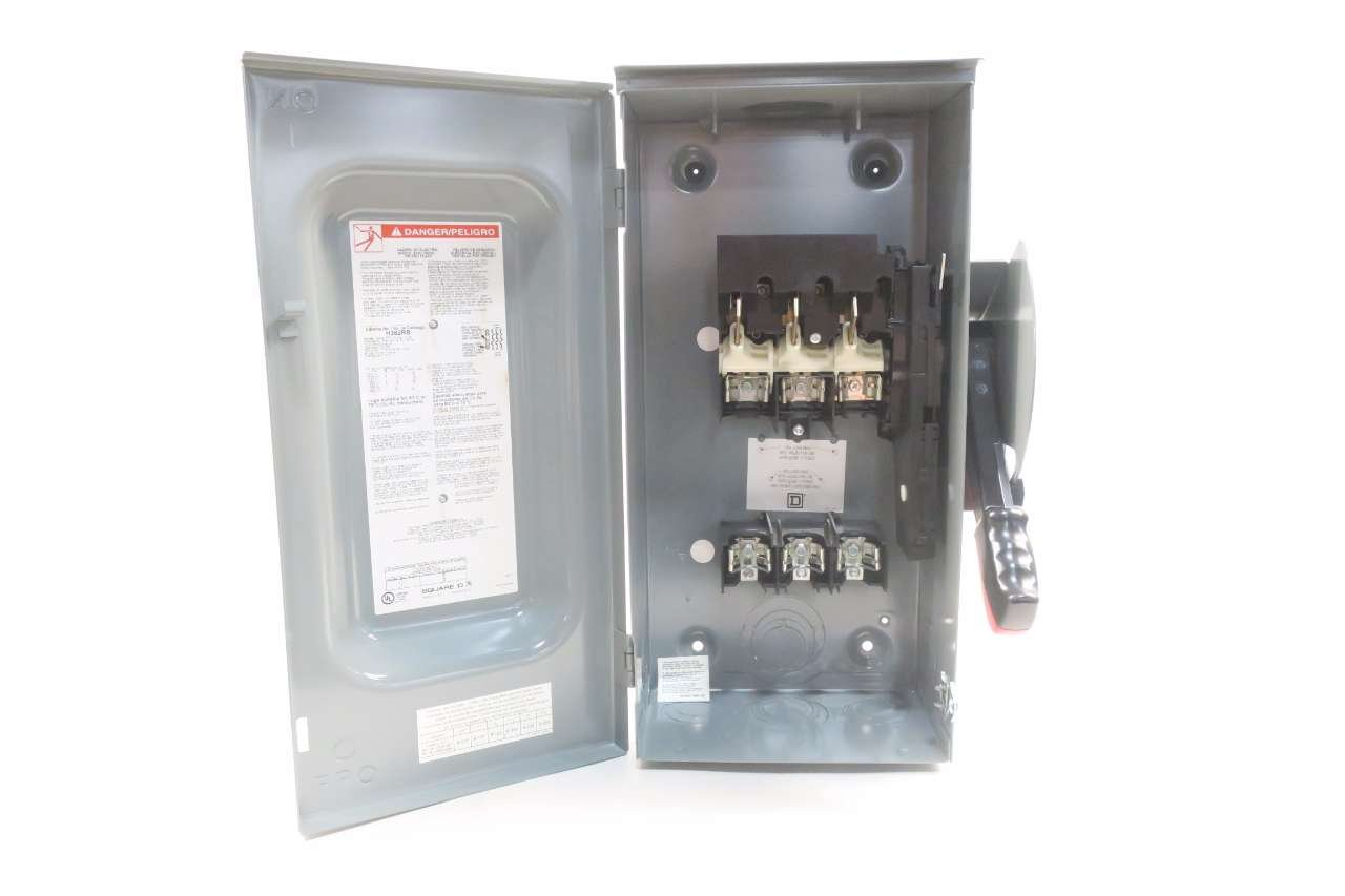 NEW SQUARE D H362RB 60A 600V-AC 3P FUSIBLE SAFETY DISCONNECT SWITCH D537667 by Square D (Image #6)