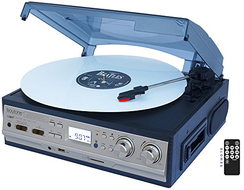 boytone BT-17DJS-C Record/Cassette Turntable - Belt Drive -