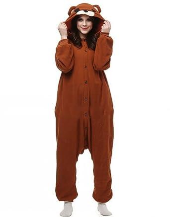 Fandecie Pijama Oso Marrón, Onesie Modelo Animales para adulto entre 1,60 y 1,75 m Kugurumi Unisex.: Amazon.es: Ropa y accesorios