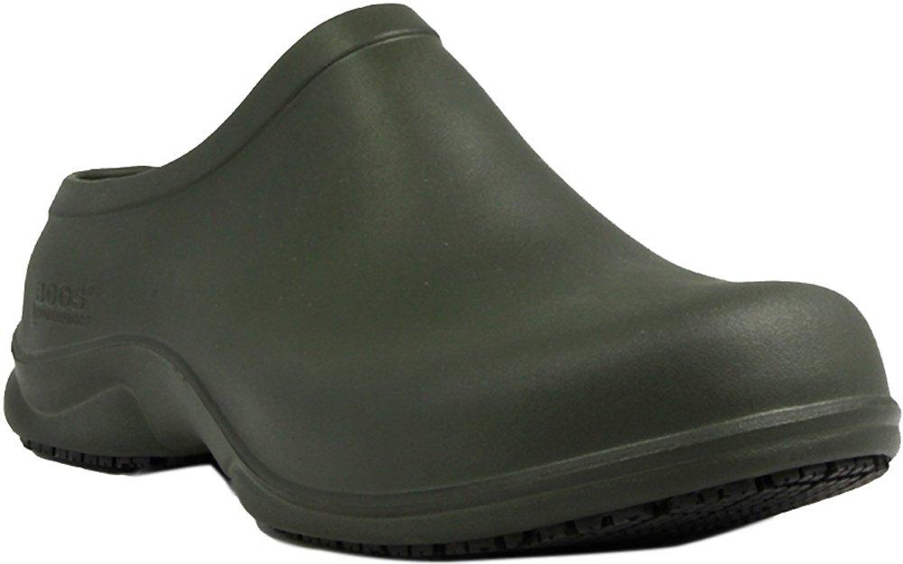 Bogs Men's Stewart Health Care & Food Services Slip On Clog Shoe, Dark Green, 7 D(M) US