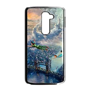 LG G2 Cell Phone Case Black_peterpan illust art thomas kinkade FY1398895