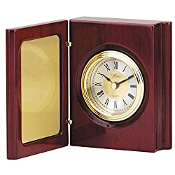 The Trophy Studio Book Clock With Hinged Cover 7 1/2 x 5 1/4 tall