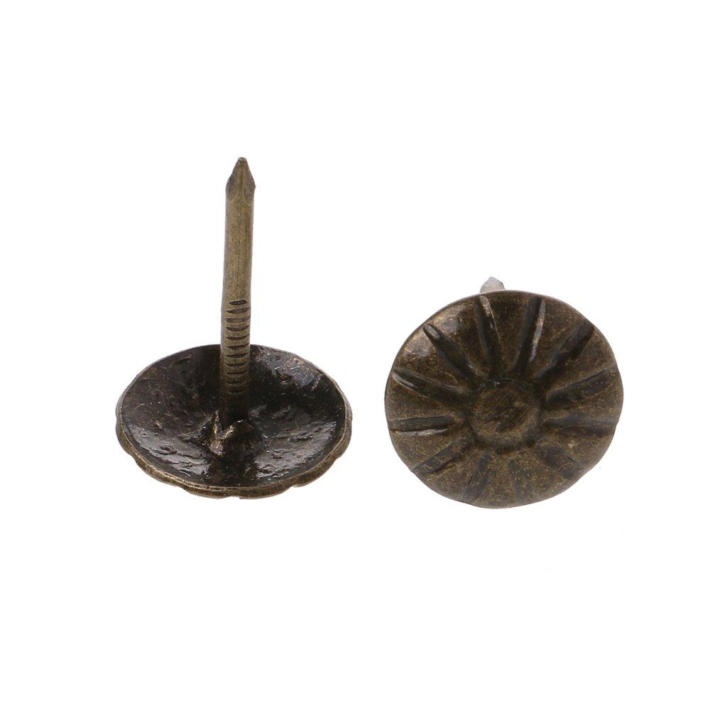 BIlinli 100 st/ücke Antike Messing Polster N/ägel Tack Stud Pushpin Doornail Hardware Decor