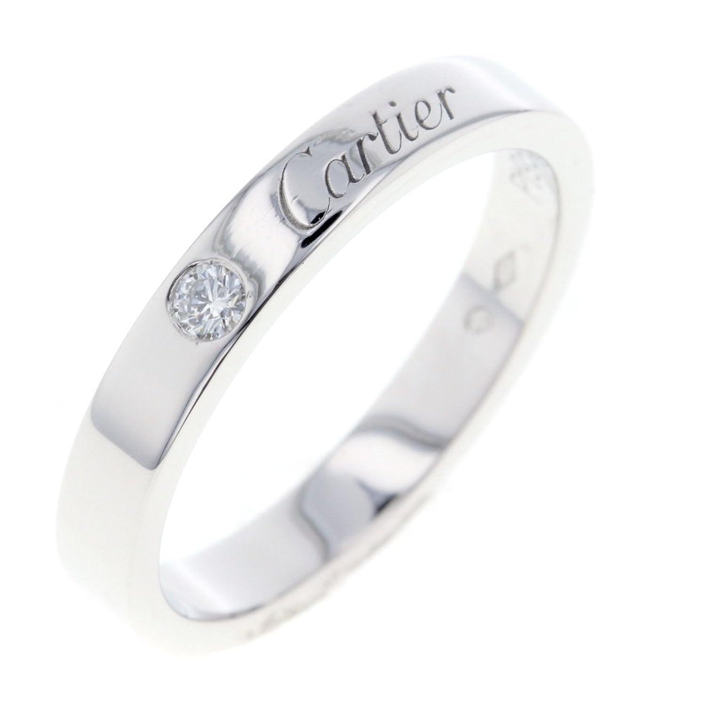 (カルティエ) CARTIER エングレーブド ウェディング 1P リング指輪 プラチナPT950/ダイヤモンド レディース 中古 B07F9LTLS5