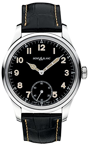 Montblanc-1858-Black-Dial-Leather-Strap-Mens-Watch-113860