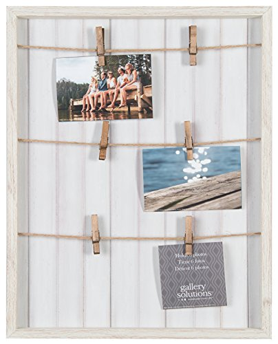 Frame Whitewash (Gallery Solutions 16X20 Whitewash Pallet Frame with Clothespin, White)