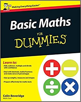 Book Basic Maths For Dummies by Colin Beveridge (2011-09-19)