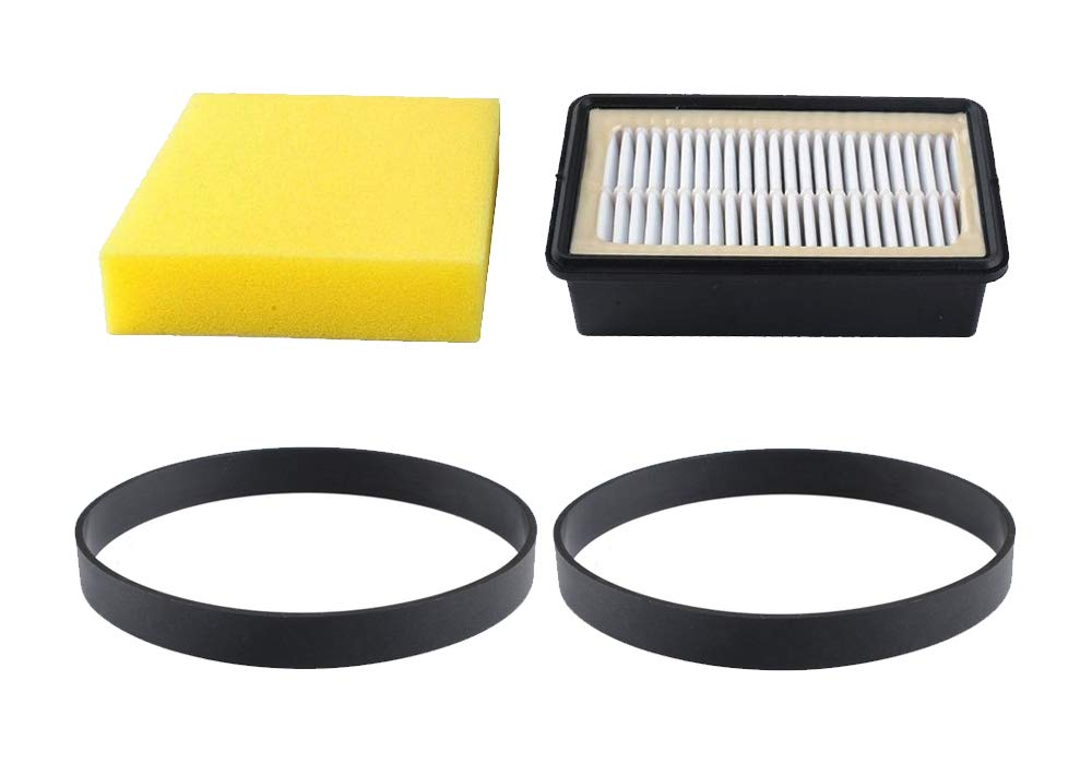 Poweka 9595a Filter and Belt Fits for Bissell Vacuums - Replacement Parts 3031120 Belts and 1008 Pre Motor and Post Motor Filter