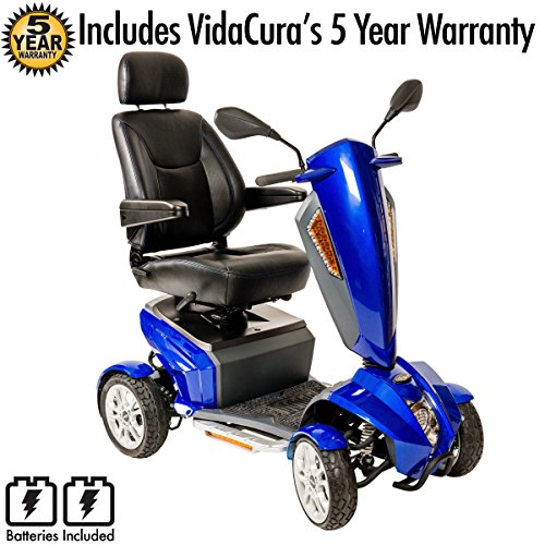 Drive Medical Odyssey GT 4 Wheel Full Size Scooter Including 5 Year Ext Warr that incl batteries ()