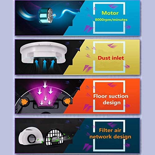 Zhipeng Aspirateur Robot Robot, Rechargeable de Fonctionnement Ultra-Mince Robot, for la Maison d\'aspiration Aspirateur Humide et Sec et Mopping hsvbkwm