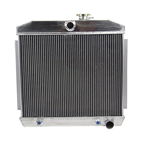 ALLOYWORKS 4 Row Aluminum Radiator for Chevy Bel-Air Nomad 55 56 57 V8 W / COOLER 210 150 Fad-