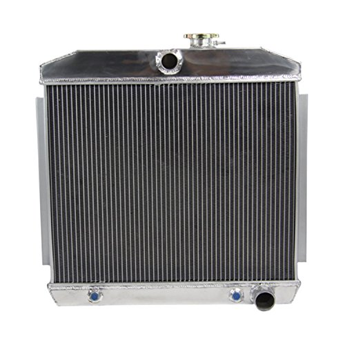 ALLOYWORKS 4 Row Aluminum Radiator for Chevy Bel-Air Nomad 55 56 57 V8 W / COOLER 210 150 Fad-