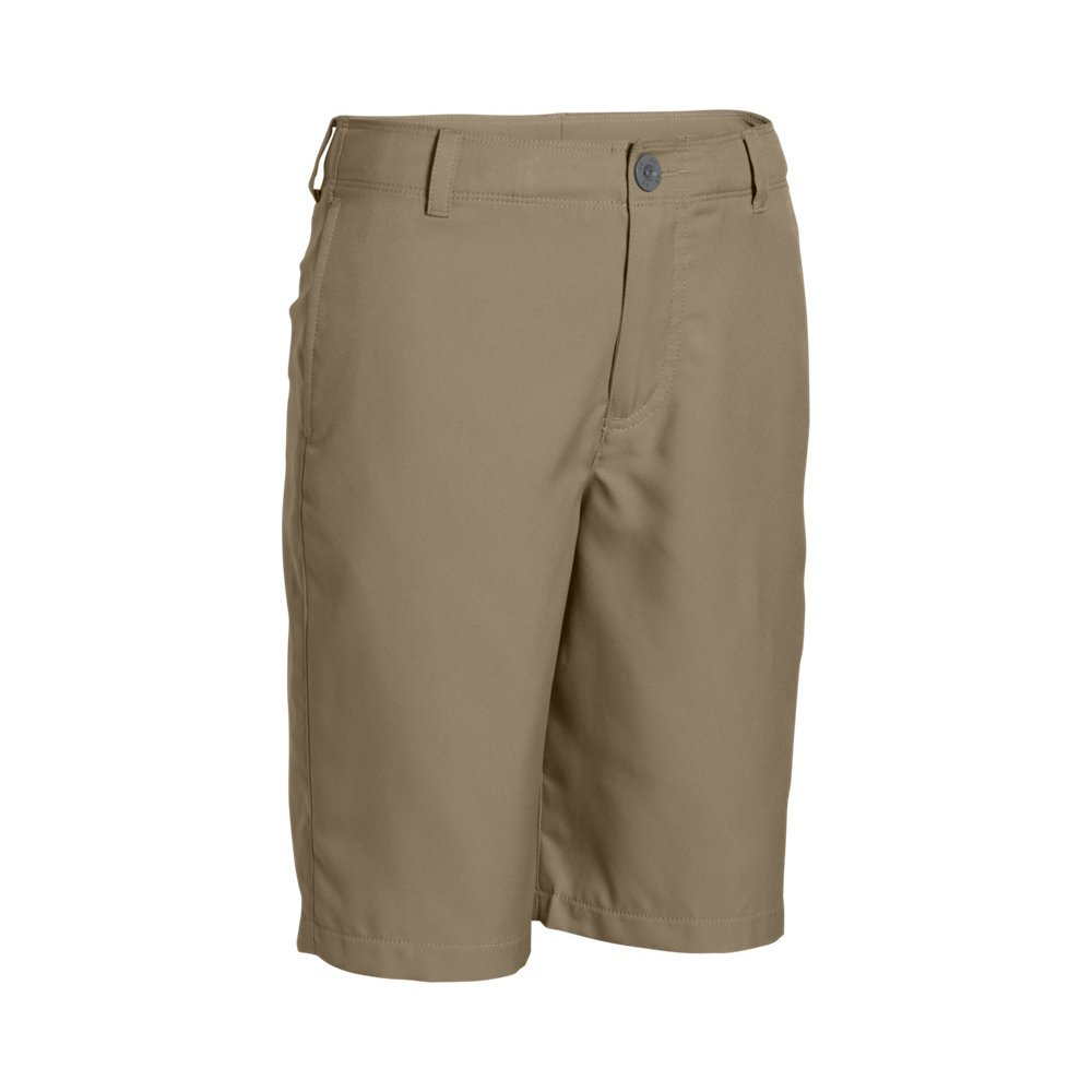 Under Armour Boys' Medal Play Golf Shorts, Canvas (254)/Graphite, Youth X-Small