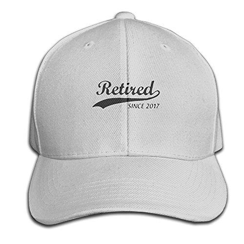 Retired Since 2017 - Cool Retirement Snapback Sandwich Cap Ash Baseball Cap Hats Adjustable Peaked Trucker Cap