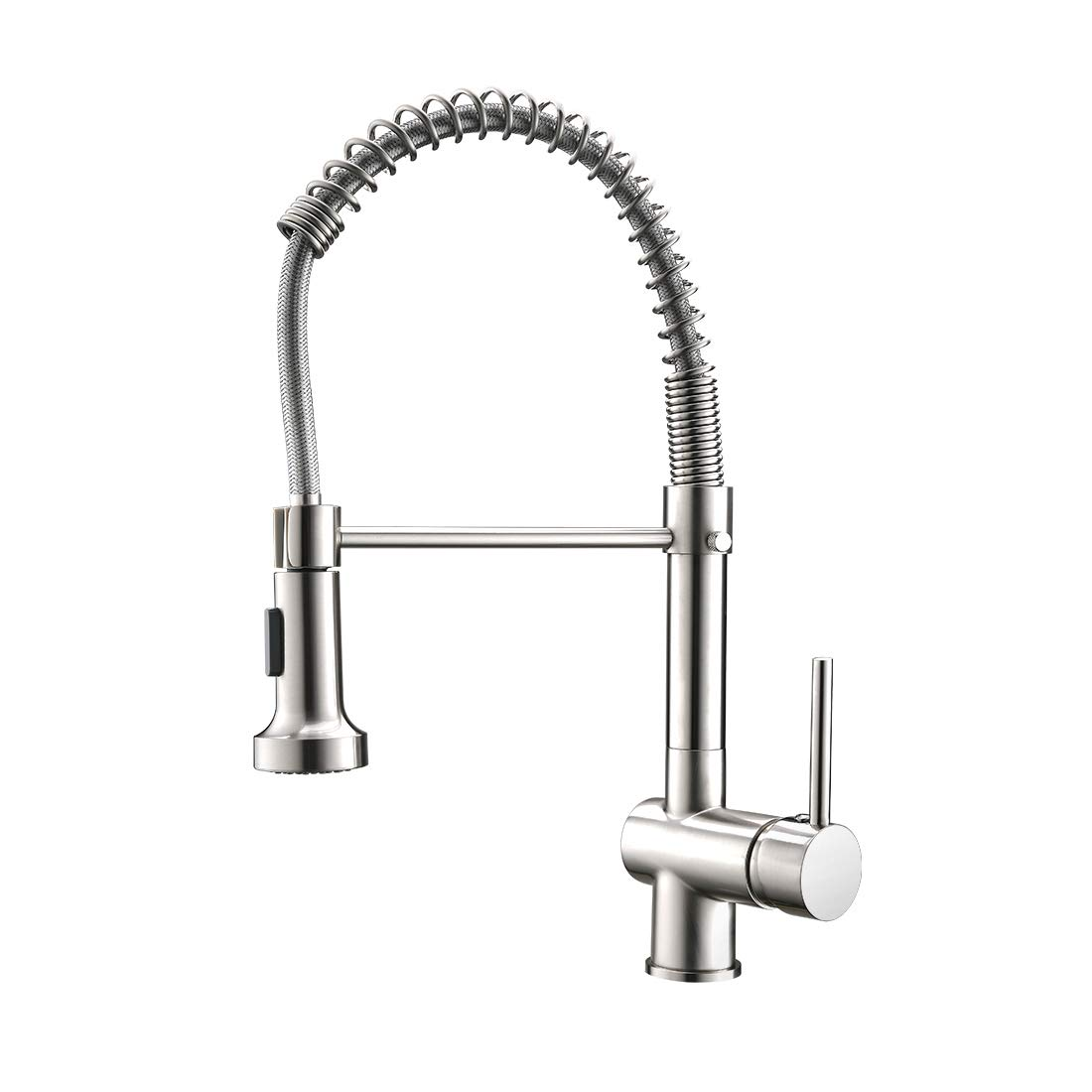 Qidian Contemporary Kitchen Faucet With Sprayer Stainless Steel