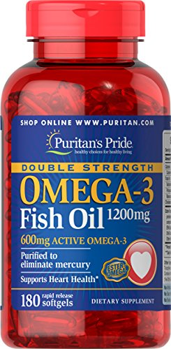 Puritans Pride Double Strength Omega-3 Fish Oil 1200 Mg