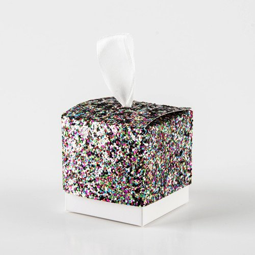- Xiaogongju 1 Pcs 5X5x5 cm Candy Box Crown Prince Princess Shine Glitter Gold Silver Paper Gift Boxes with Ribbon String Wedding Decoration Color 5x5x5cm