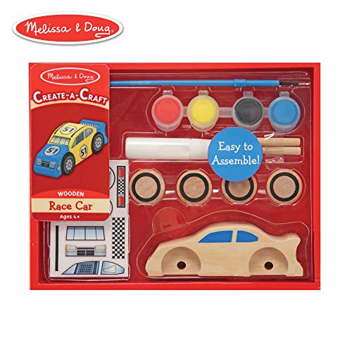 Melissa & Doug Decorate-Your-Own Wooden Race Car Craft Kit (Cheap Kit Cars To Build For Sale)