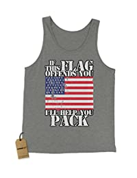 Expression Tees If This Flag Offends You, Pack Jersey Tank Top for Men