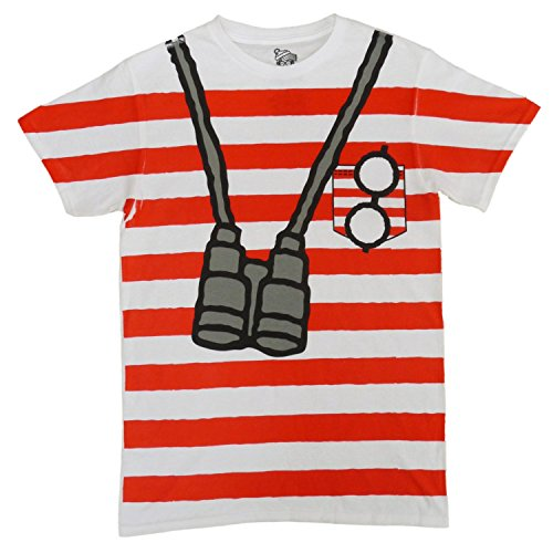 Where's Waldo Mens Red & White Striped Costume (Red And White Striped Shirt Costume)