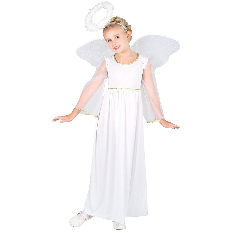 child white angel fancy dress costume christmas xmas nativity kids