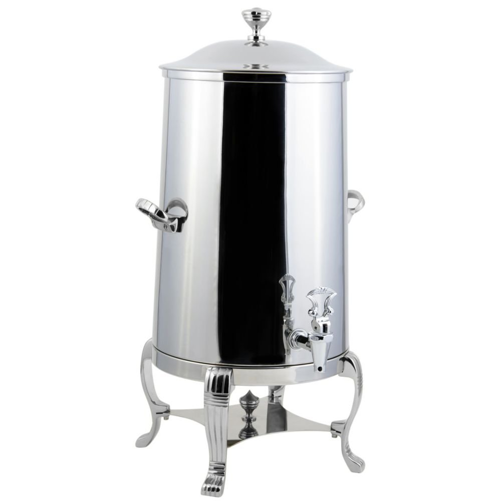 Bon Chef 40003CH Stainless Steel Aurora Insulated Coffee Urn with Chrome Trim, 3 gal Capacity, Chrome Accents