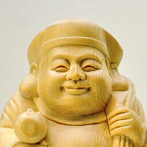 木彫り仏像 桧木【大黒天】 総高13.8cm 開運招福商売繁盛家内安全 B01L6J9KWM