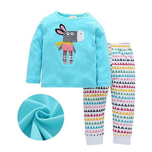 Price comparison product image 2018 Spring and Autumn New Baby Girls' T-Shirt and Pants Two-Piece Suits