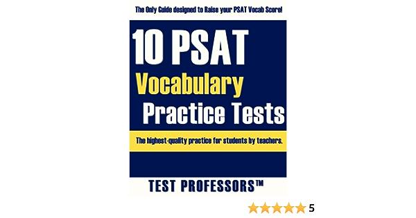 Amazon Com 10 Psat Vocabulary Practice Tests 9781937599003 Simpson Paul G Iv Test Professors Books