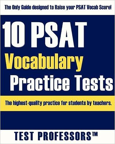 10 PSAT Vocabulary Practice Tests