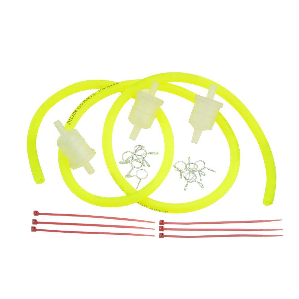Goofit rouge moto gaz carburant filtre ligne pinces /à ressort pinces tube tuyau int/érieur dia moto huile essence universel dirt atv cyclomoteur scooters pack de poche v/élo