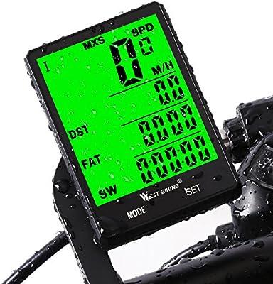 Schwarz LCD Funk Fahrradcomputer Fahrrad Tachometer Radfahren Kilometerzähler w//