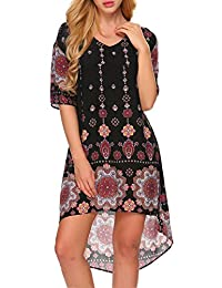 ACEVOG High Low Long Homecoming Casual Fit And Flare Kaftan Dresses for Women