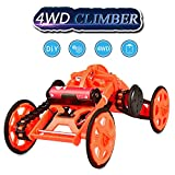 Fricon Birthday Presents Gifts for 8-12 Year Old Boys , Kimy DIY Climbing Vehicle Science Experiment Engineering for Kids Children Toys for 8-12 Year Old Boys Girls Gift Age 8-12 Orange KMUSDC02