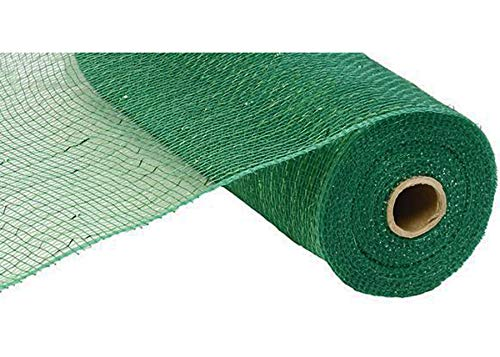 10 inch x 30 feet Deco Poly Mesh Ribbon  Value Mesh Emerald Green