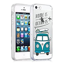 "JAMMYLIZARD [ iPhone 6 / 6s 4.7"" Case ] Invisible Gel Sketch Back Cover, VW Surf Van"