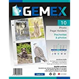 Gemex Photo Page Holder for 8 Prints 4''X6'' for Legal Size Or Album Size 3-Ring Binders, 10 Per Pack