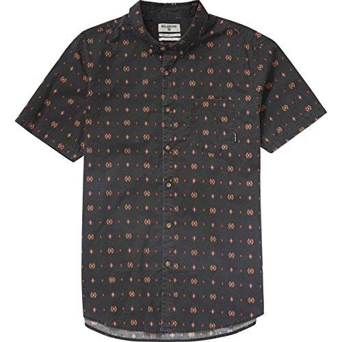 (Billabong Men's Jetson Short Sleeve Woven Shirt, Asphalt, Medium)