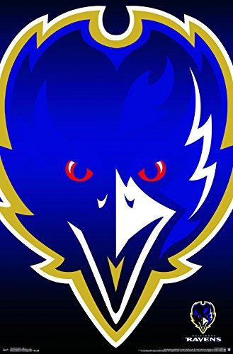 Trends International Baltimore Ravens Logo Wall Poster 22.375
