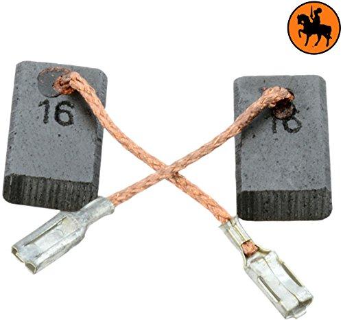 Balais de Charbon pour BOSCH GWS 9-125 meuleuse 2.0x3.9x6.3 5x10x16mm Avec arr/êt automatique